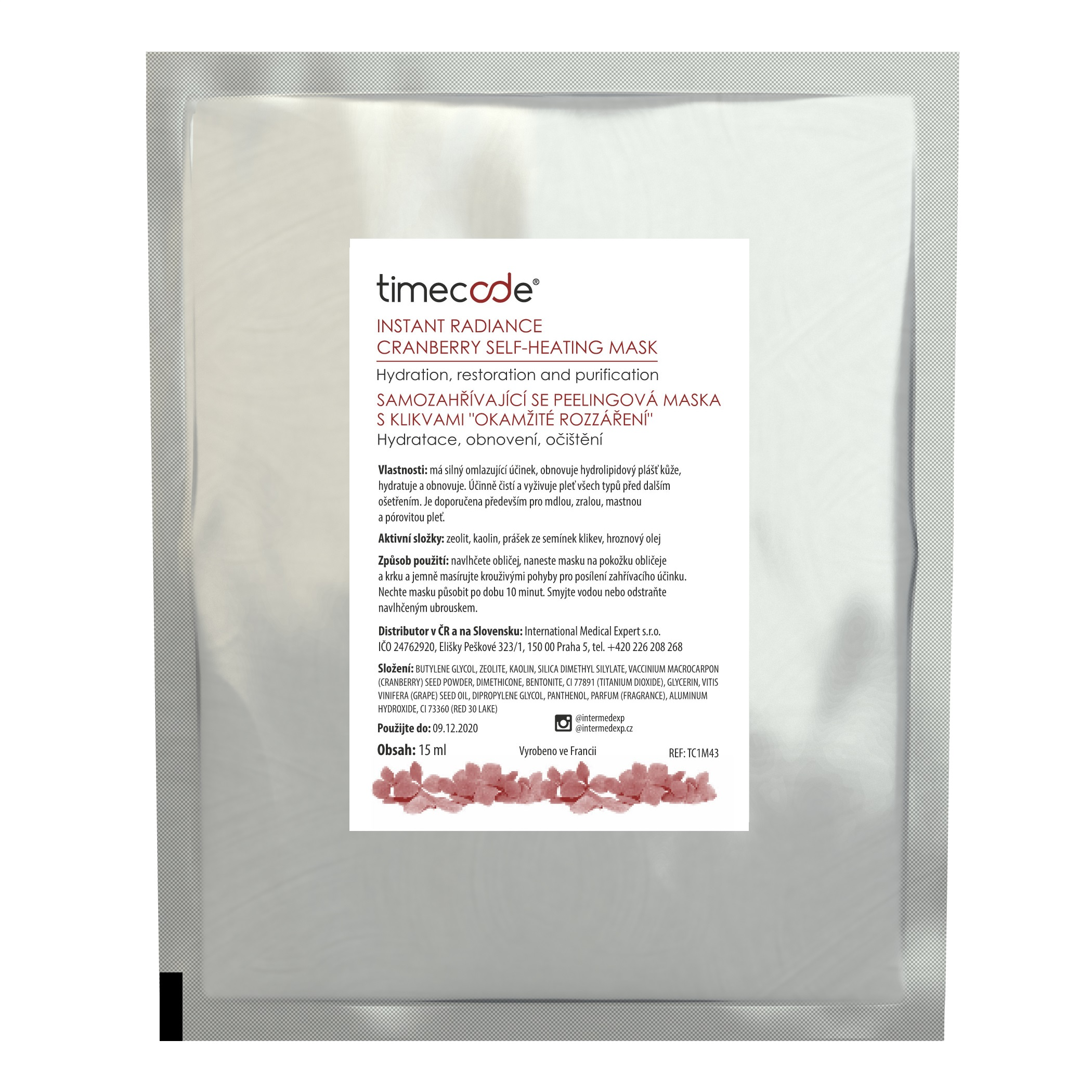 TIMECODE CRANBERRY SELF-HEATING MASK