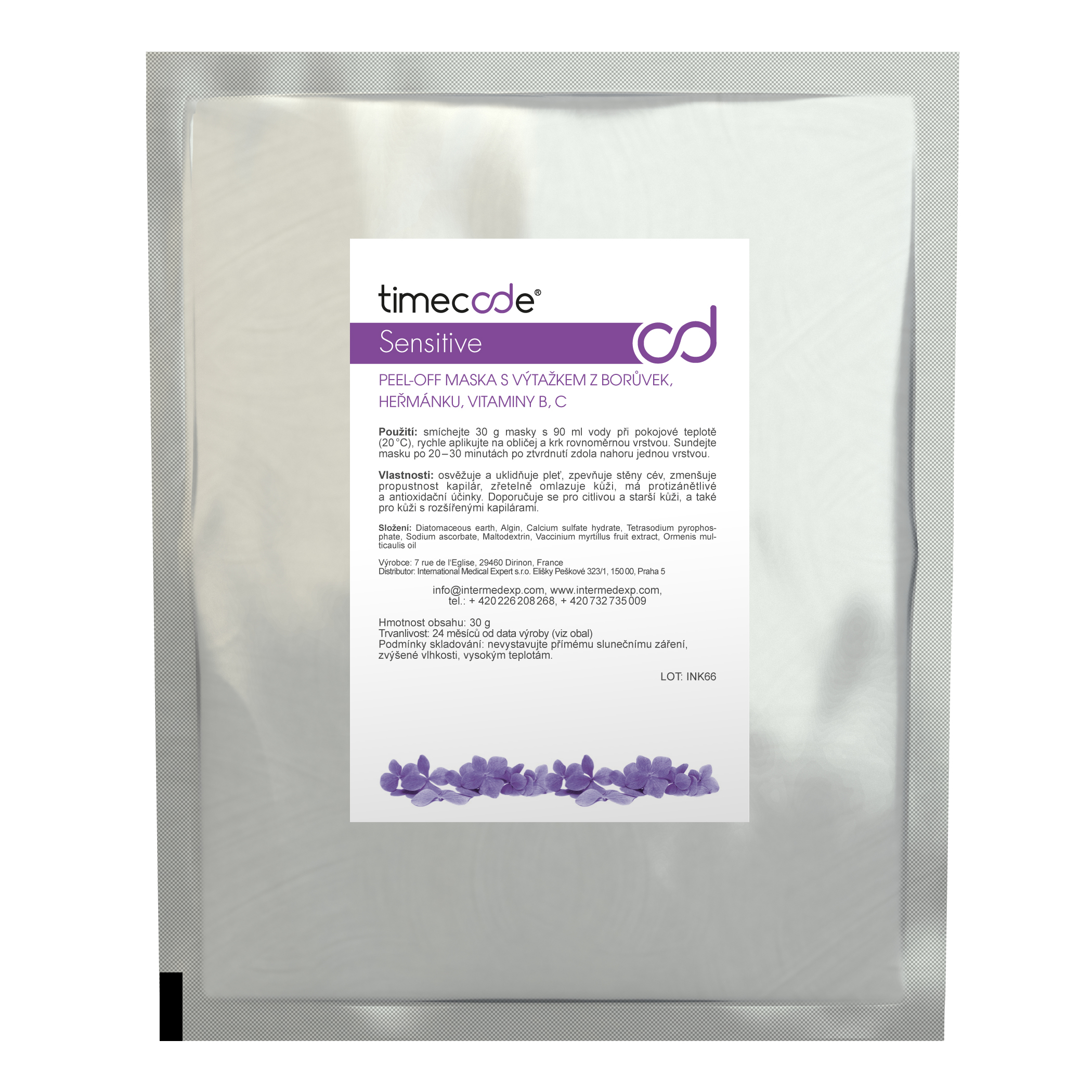 TIMECODE SOOTHING MASK SENSITIVE